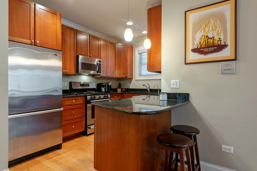 Real Estate Photography - 3316 North Clifton Ave, Unit 1, Chicago, IL, 60657 - Kitchen
