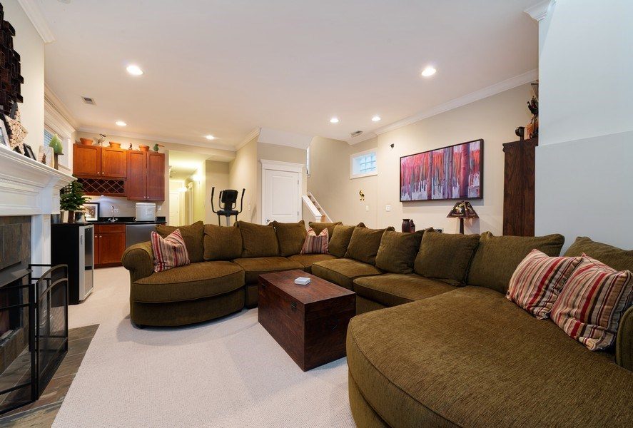 Real Estate Photography - 3316 North Clifton Ave, Unit 1, Chicago, IL, 60657 - Family Room