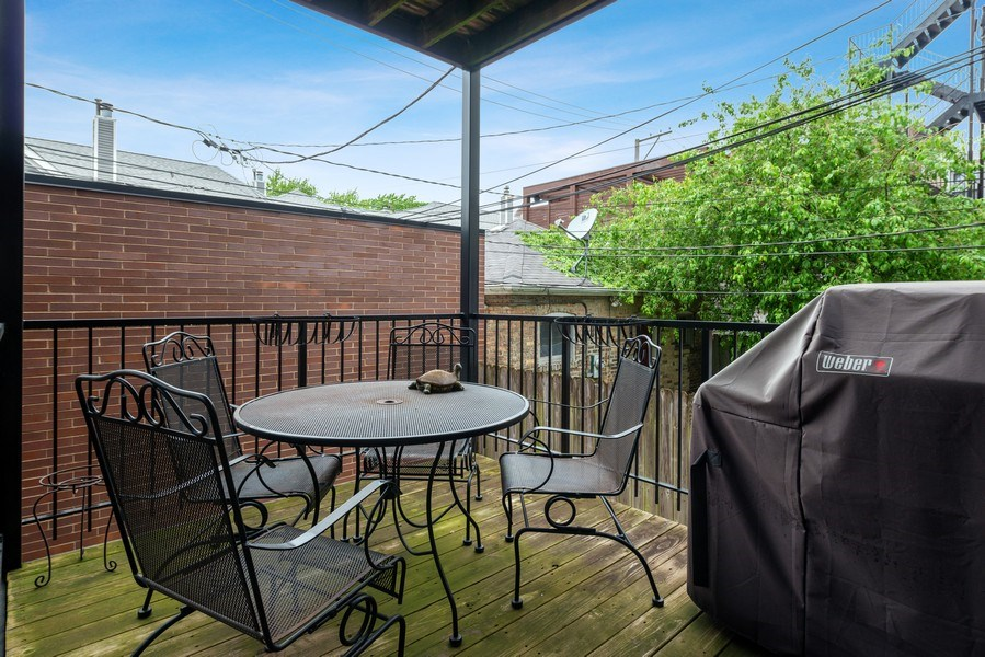 Real Estate Photography - 3316 North Clifton Ave, Unit 1, Chicago, IL, 60657 - Deck