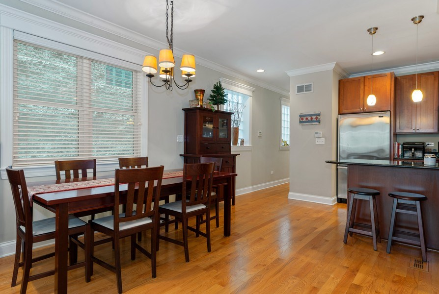 Real Estate Photography - 3316 North Clifton Ave, Unit 1, Chicago, IL, 60657 - Kitchen / Dining Room
