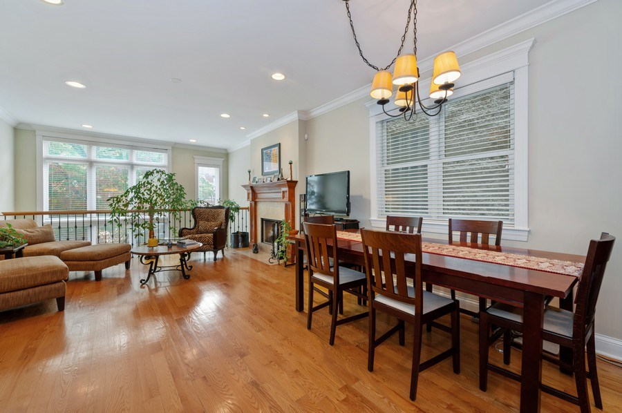 Real Estate Photography - 3316 North Clifton Ave, Unit 1, Chicago, IL, 60657 - Living Room / Dining Room