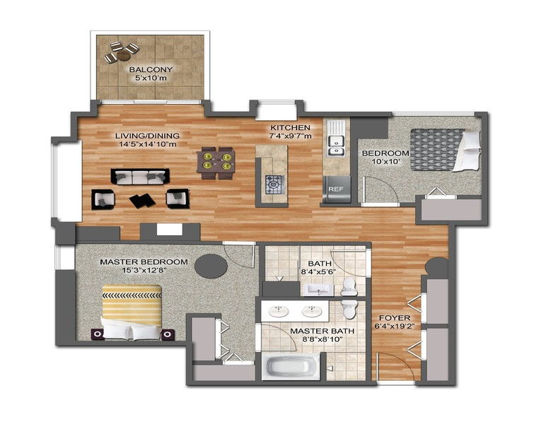 Real Estate Photography - 1529 S State St, Unit 13B, Chicago, IL, 60616 - Floor Plan