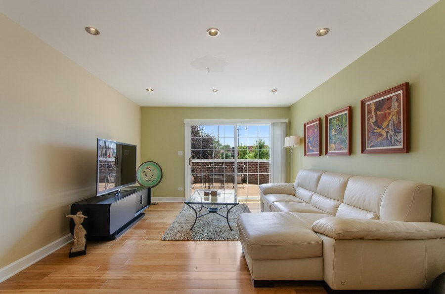 Real Estate Photography - 8007 Lincoln Ave, Skokie, IL, 60077 - Living Room