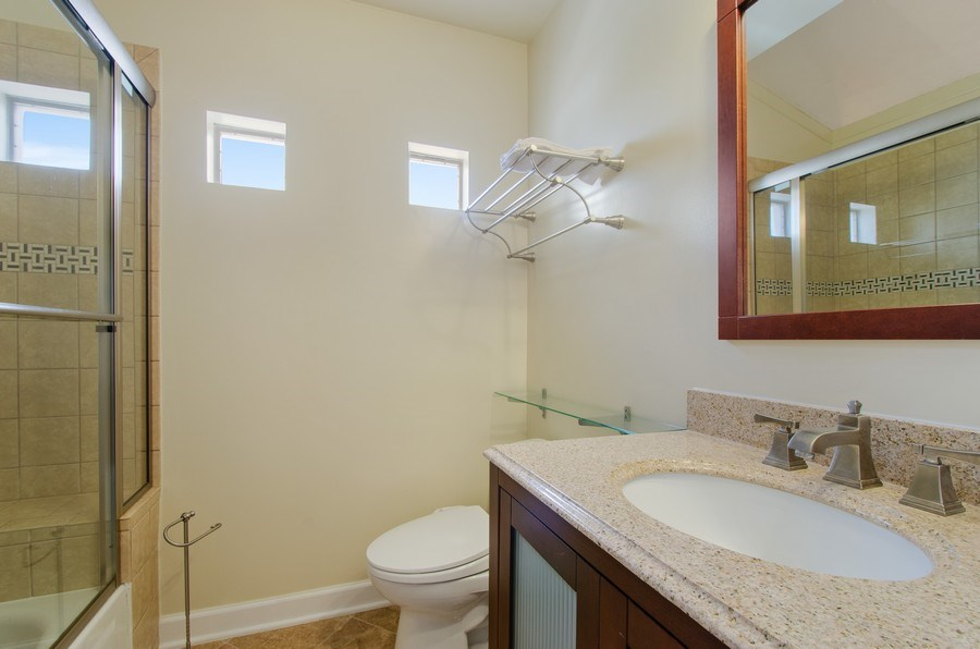 Real Estate Photography - 8007 Lincoln Ave, Skokie, IL, 60077 - Master Bathroom