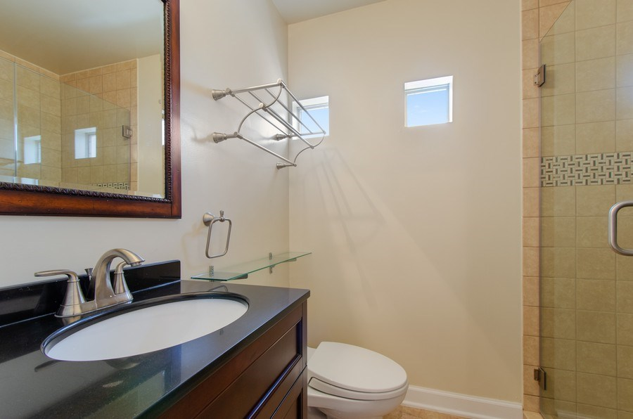 Real Estate Photography - 8007 Lincoln Ave, Skokie, IL, 60077 - 2nd Bathroom