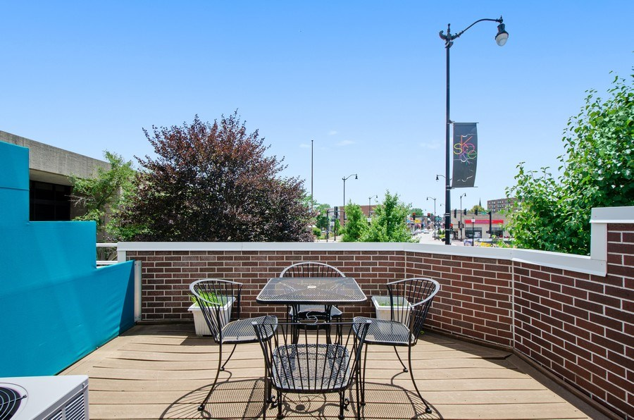 Real Estate Photography - 8007 Lincoln Ave, Skokie, IL, 60077 - Balcony