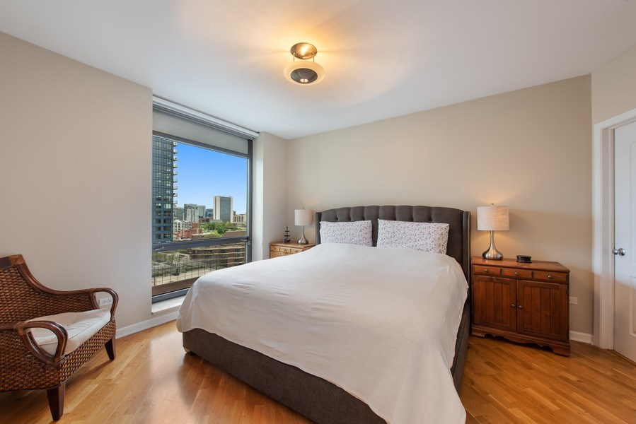 Real Estate Photography - 1212 N Wells Street, Unit 1404, Chicago, IL, 60610 - Master Bedroom