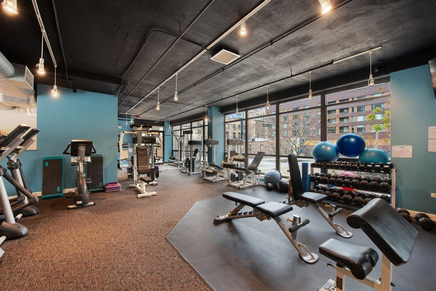 Real Estate Photography - 1212 N Wells Street, Unit 1404, Chicago, IL, 60610 - Gym