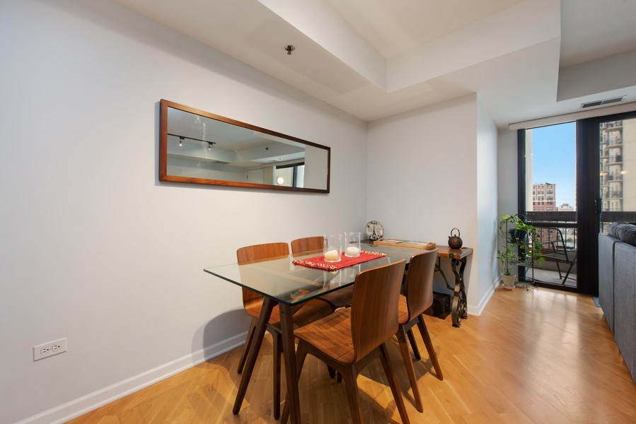 Real Estate Photography - 1212 N Wells Street, Unit 1404, Chicago, IL, 60610 - Dining Room