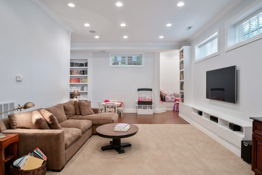 Real Estate Photography - 4200 N Oakley, Chicago, IL, 60618 - Media Room