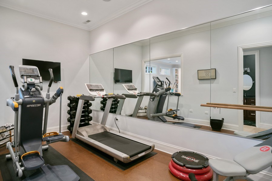 Real Estate Photography - 4200 N Oakley, Chicago, IL, 60618 - Exercise Room