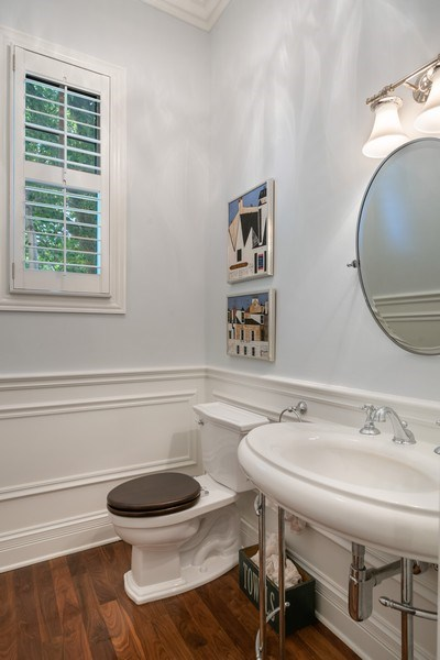 Real Estate Photography - 4200 N Oakley, Chicago, IL, 60618 - Powder Room