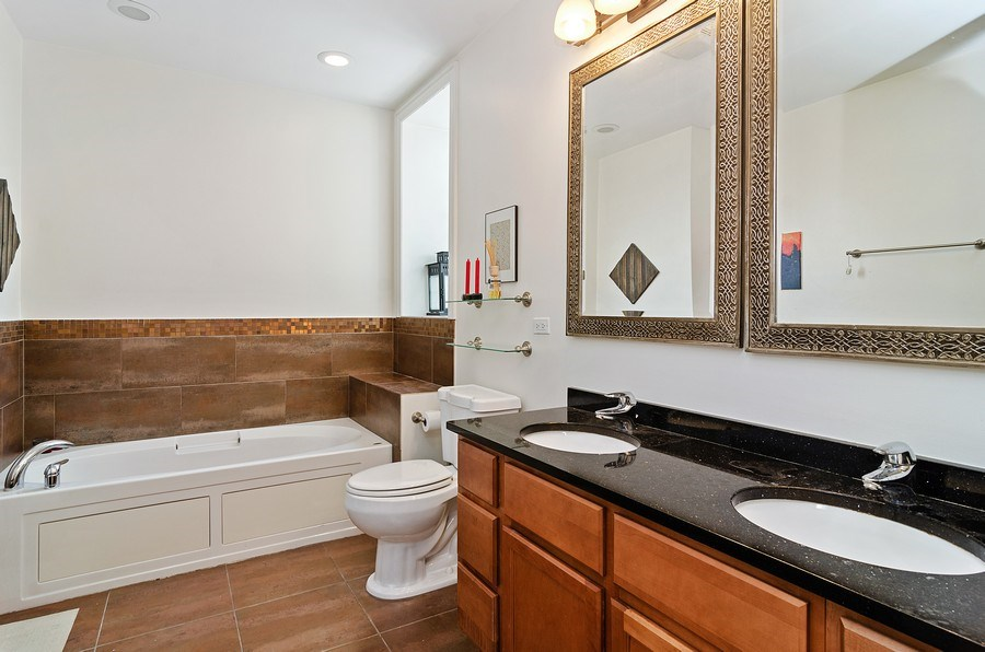 Real Estate Photography - 1064 N Milwaukee, 2W, Chicago, IL, 60642 - Master Bathroom