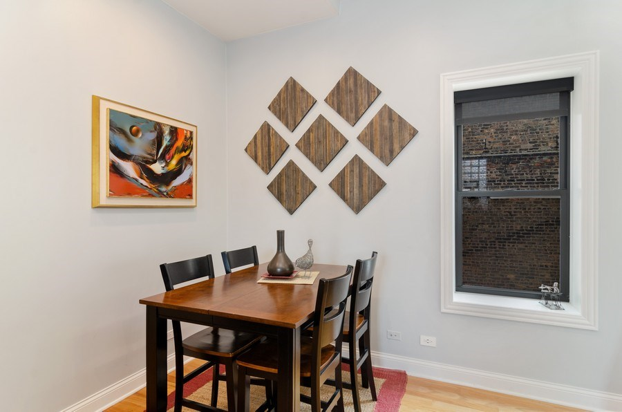 Real Estate Photography - 1064 N Milwaukee, 2W, Chicago, IL, 60642 - Dining Room