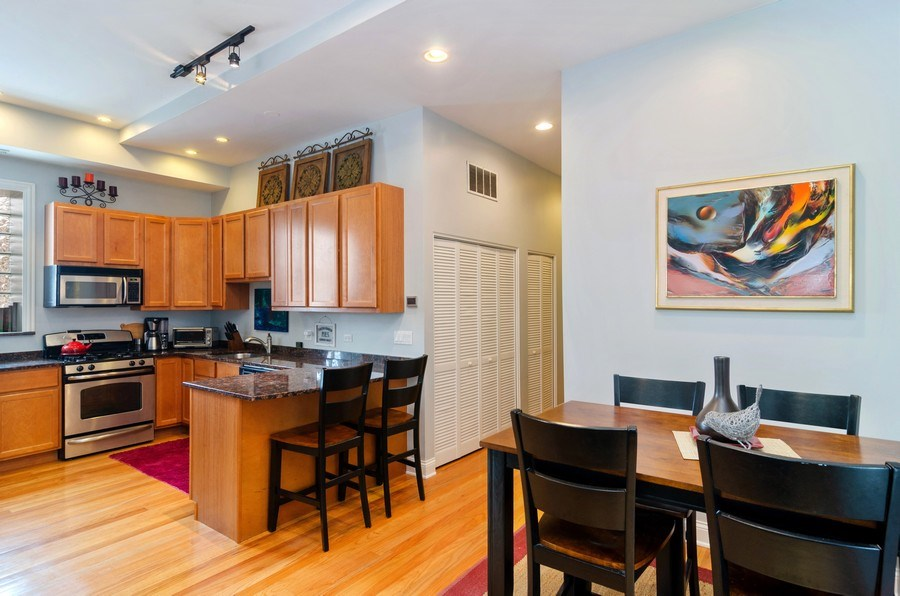 Real Estate Photography - 1064 N Milwaukee, 2W, Chicago, IL, 60642 - Kitchen / Dining Room