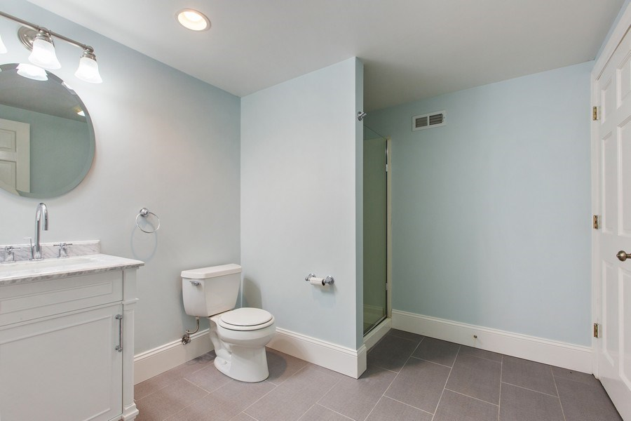 Real Estate Photography - 410 Traube Ave., Clarendon Hills, IL, 60514 - Basement Bathroom