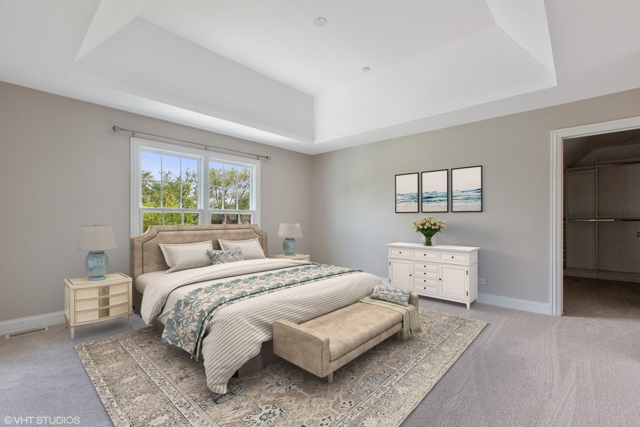 Real Estate Photography - 410 Traube Ave., Clarendon Hills, IL, 60514 - Master Bedroom