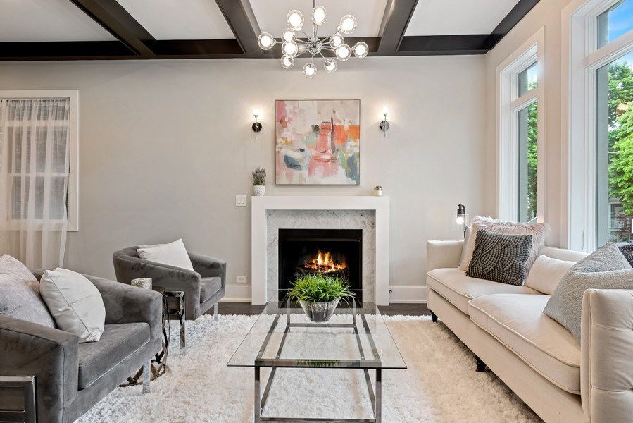 Real Estate Photography - 3321 N Oakley, Chicago, IL, 60618 - Living Room