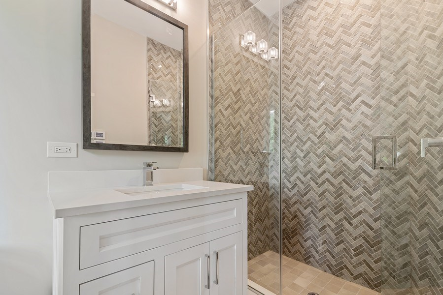 Real Estate Photography - 3321 N Oakley, Chicago, IL, 60618 - 3rd Bathroom