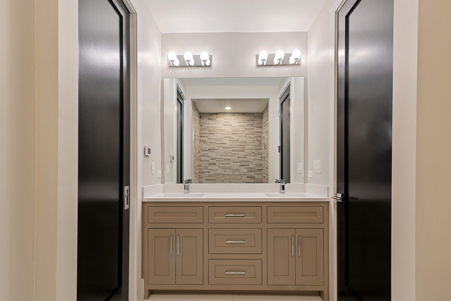 Real Estate Photography - 3321 N Oakley, Chicago, IL, 60618 - 4th Bathroom