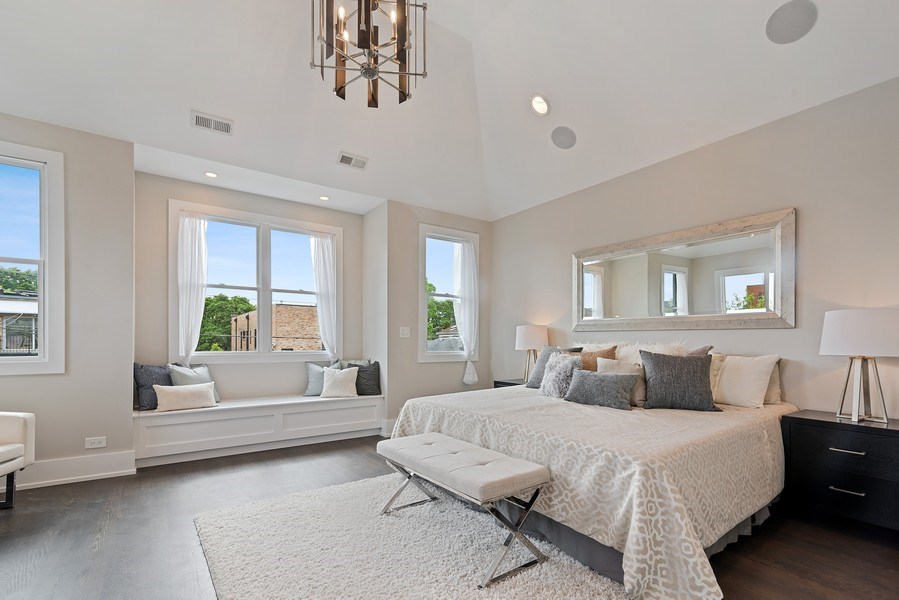 Real Estate Photography - 3321 N Oakley, Chicago, IL, 60618 - Master Bedroom