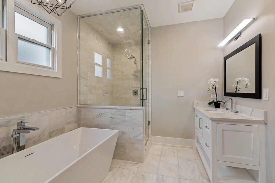 Real Estate Photography - 3321 N Oakley, Chicago, IL, 60618 - Master Bathroom
