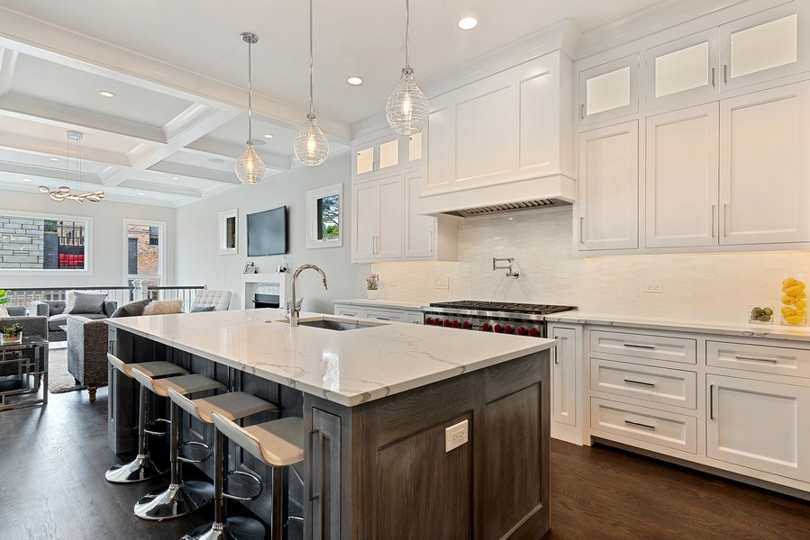 Real Estate Photography - 3321 N Oakley, Chicago, IL, 60618 - Kitchen