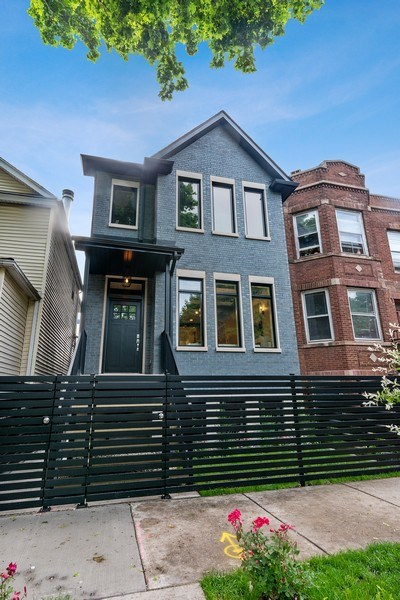 Real Estate Photography - 3321 N Oakley, Chicago, IL, 60618 - Front View