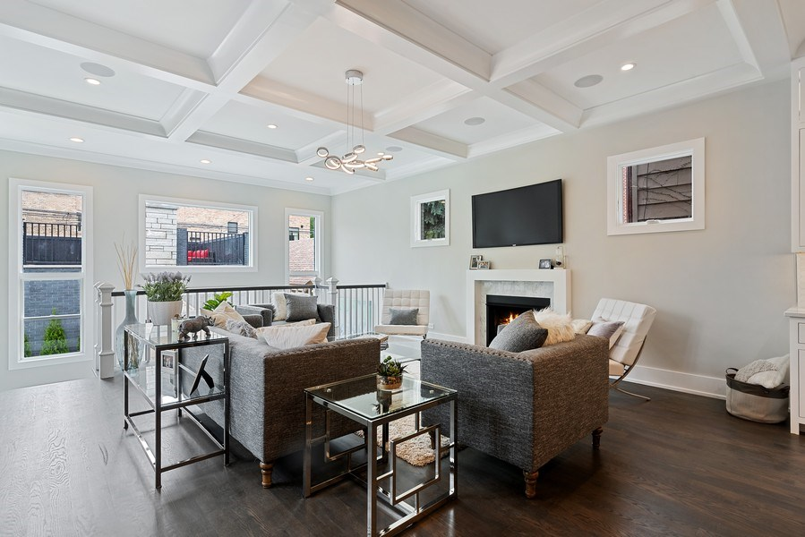 Real Estate Photography - 3321 N Oakley, Chicago, IL, 60618 - Family Room