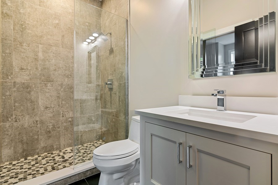 Real Estate Photography - 3321 N Oakley, Chicago, IL, 60618 - 2nd Bathroom