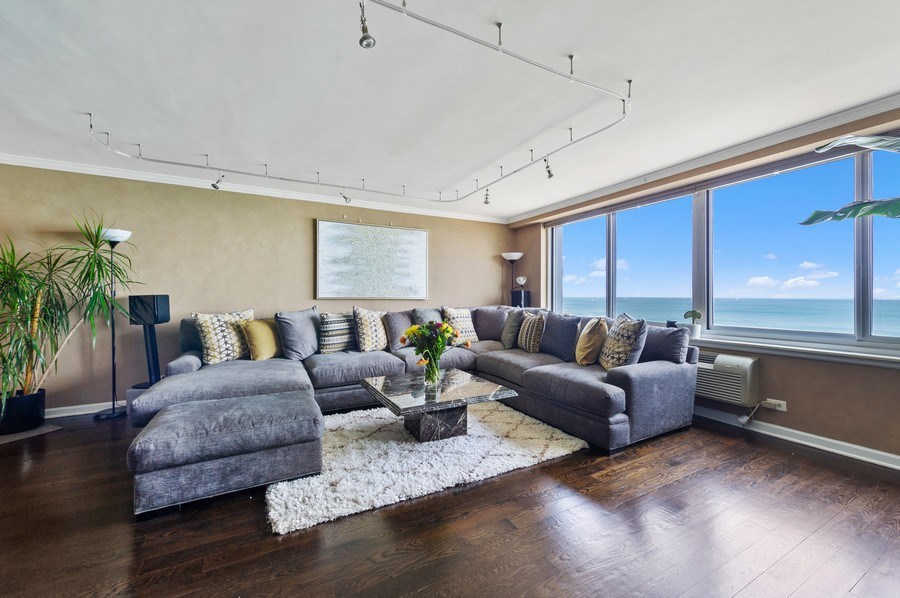 Real Estate Photography - 1440 N Lakeshore Drive Unit 12E, Chicago, IL, 60610 - Living Room