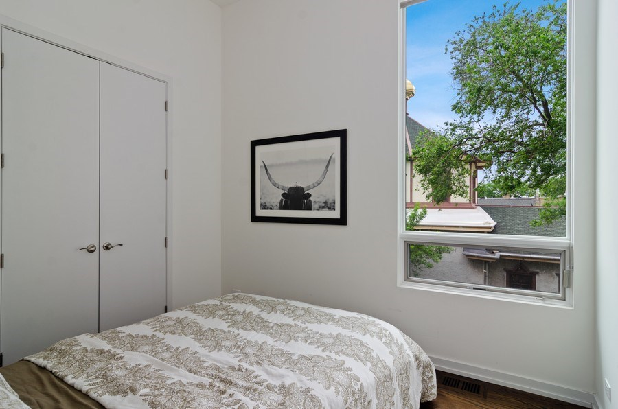 Real Estate Photography - 1137 North Leavitt, 3, Chicago, IL, 60642 - 2nd Bedroom
