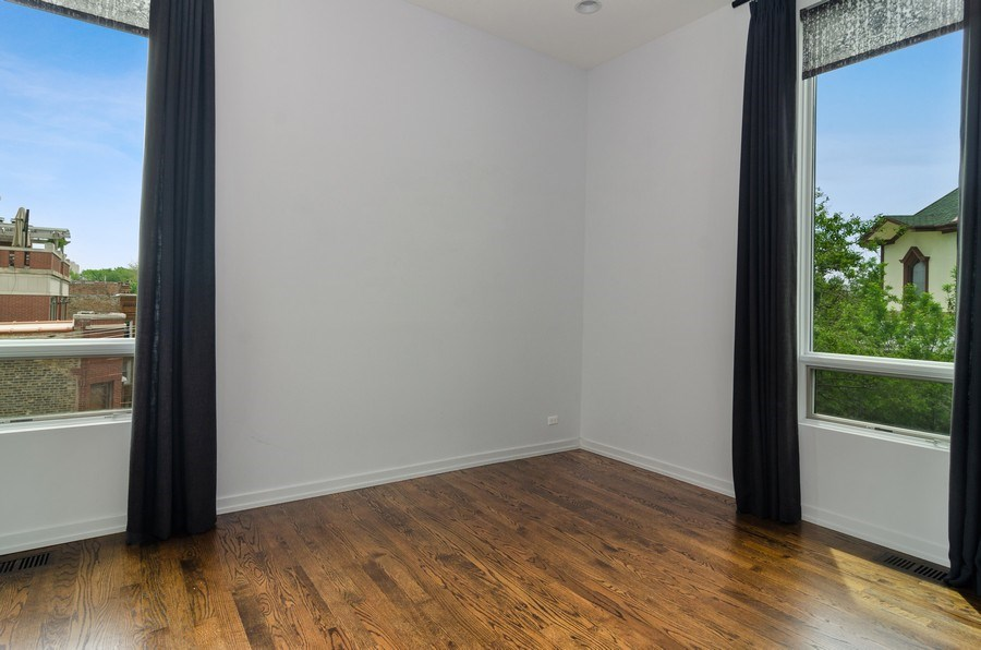 Real Estate Photography - 1137 North Leavitt, 3, Chicago, IL, 60642 - Master Bedroom