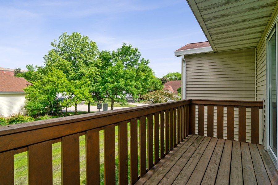 Real Estate Photography - 341 Newport Ln, Unit C2, Bartlett, IL, 60103 - Balcony