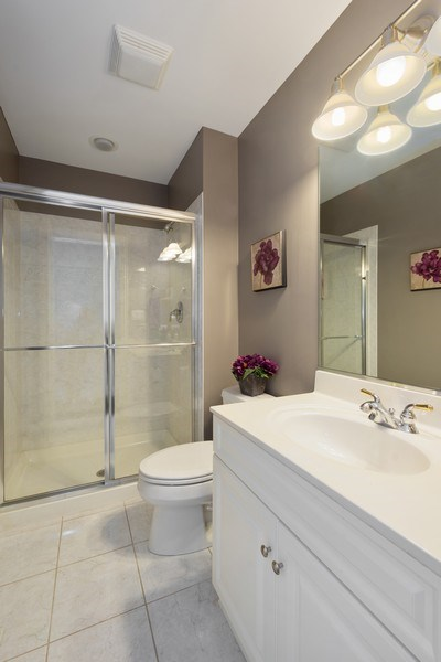Real Estate Photography - 21514 W Hummingbird Court, Kildeer, IL, 60047 - Ensuite Bathroom in 2nd Bedroom