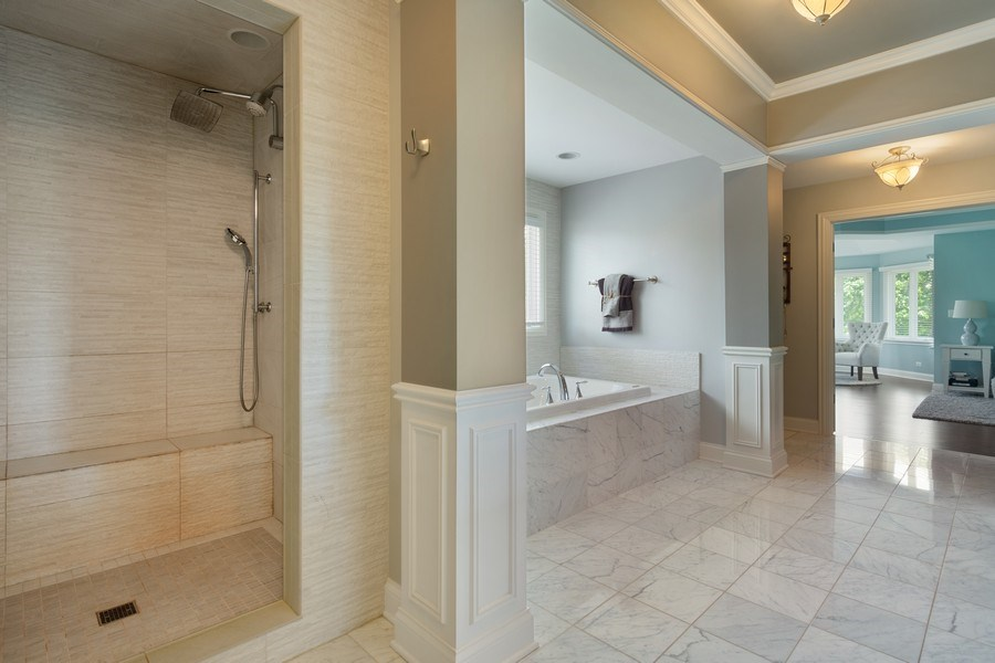 Real Estate Photography - 21514 W Hummingbird Court, Kildeer, IL, 60047 - Master Bathroom