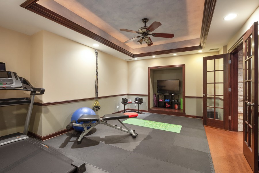 Real Estate Photography - 21514 W Hummingbird Court, Kildeer, IL, 60047 - Fitness Room
