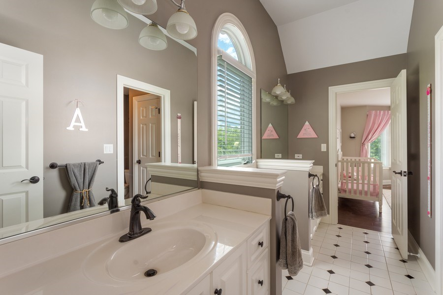Real Estate Photography - 21514 W Hummingbird Court, Kildeer, IL, 60047 - Jack and Jill Bathroom