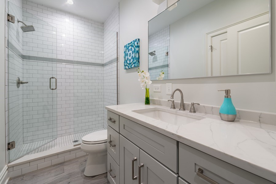 Real Estate Photography - 2140 W. Moffat Street, Chicago, IL, 60647 - 3rd Bathroom