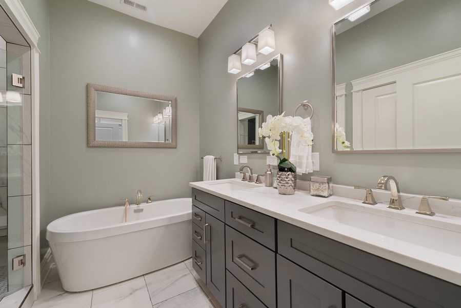 Real Estate Photography - 2140 W. Moffat Street, Chicago, IL, 60647 - Master Bathroom