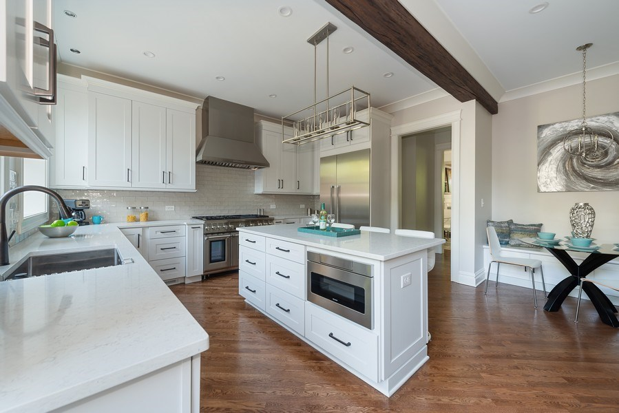 Real Estate Photography - 2140 W. Moffat Street, Chicago, IL, 60647 - Kitchen / Breakfast Room