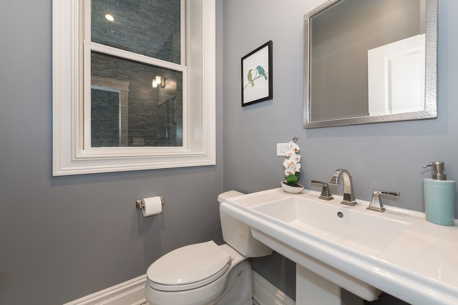 Real Estate Photography - 2140 W. Moffat Street, Chicago, IL, 60647 - Powder Room