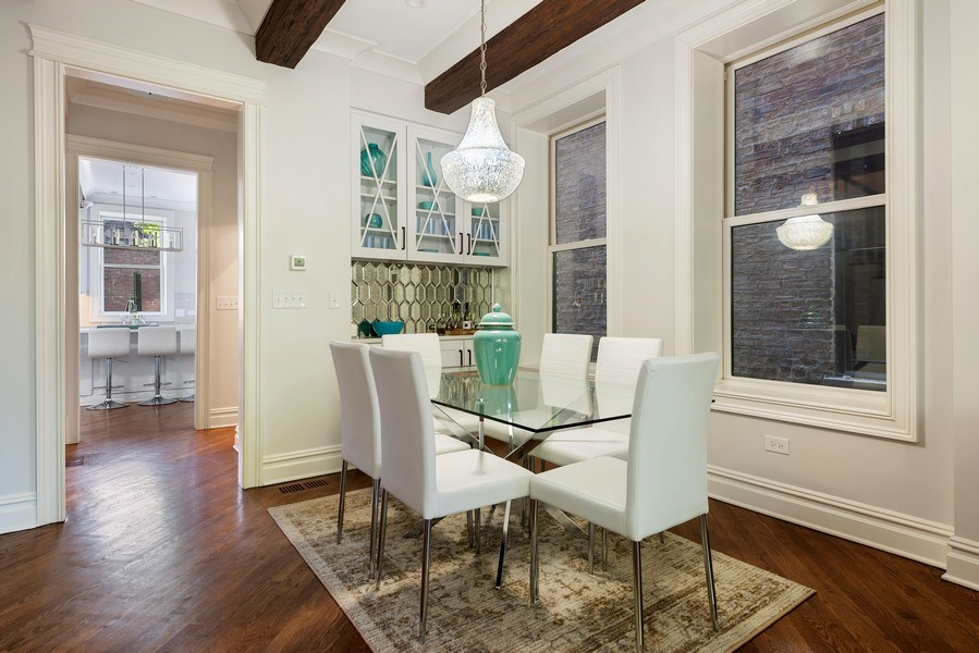 Real Estate Photography - 2140 W. Moffat Street, Chicago, IL, 60647 - Dining Room