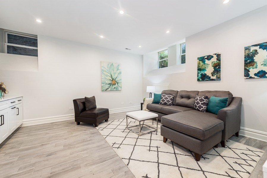 Real Estate Photography - 2140 W. Moffat Street, Chicago, IL, 60647 - Family Room
