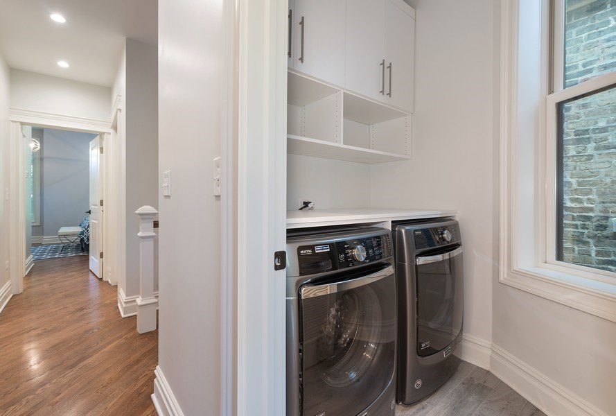 Real Estate Photography - 2140 W. Moffat Street, Chicago, IL, 60647 - Laundry Room