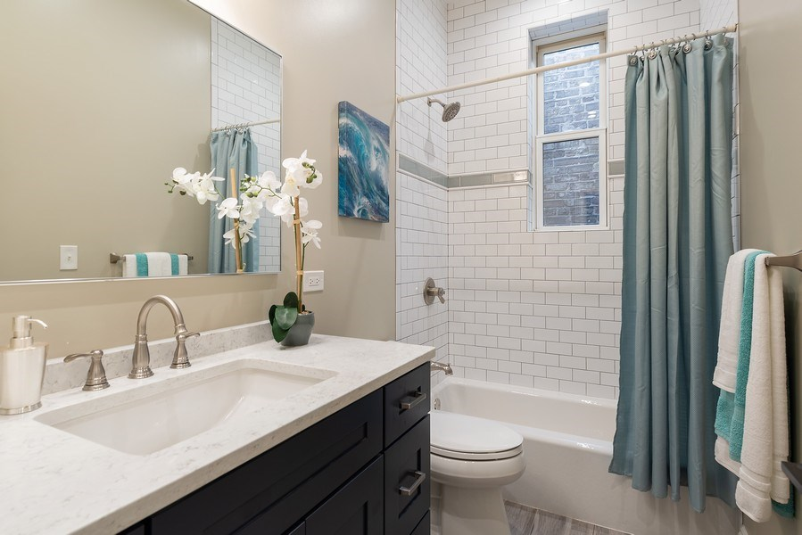 Real Estate Photography - 2140 W. Moffat Street, Chicago, IL, 60647 - 2nd Bathroom