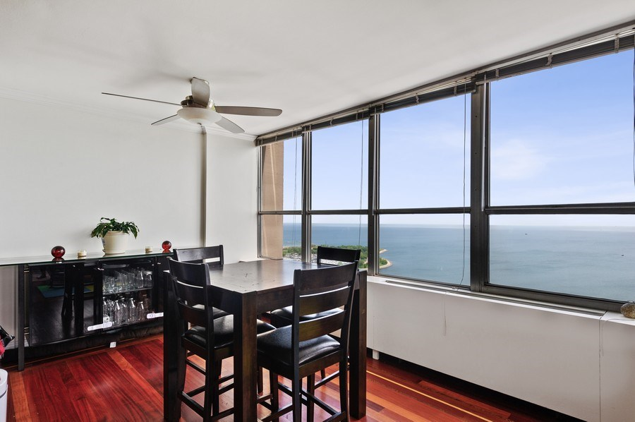 Real Estate Photography - 655 W Irving Park Unit 4601, Chicago, IL, 60613 - Dining Room