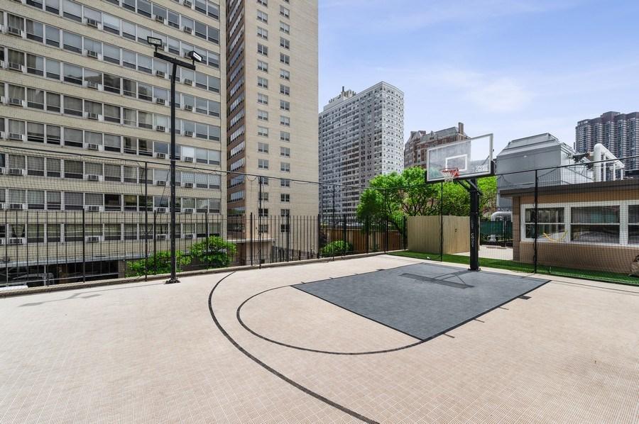 Real Estate Photography - 655 W Irving Park Unit 4601, Chicago, IL, 60613 - Basketball Court