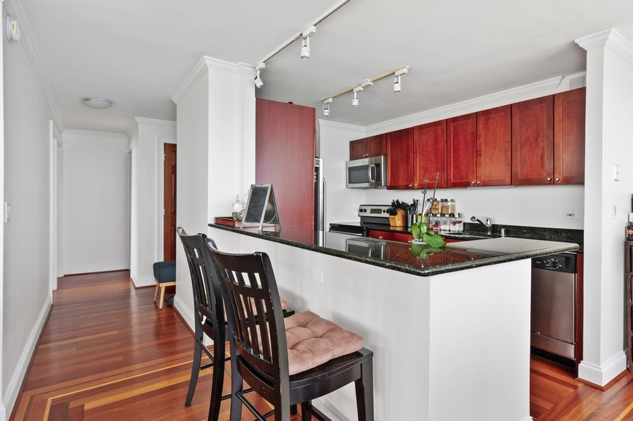 Real Estate Photography - 655 W Irving Park Unit 4601, Chicago, IL, 60613 - Kitchen