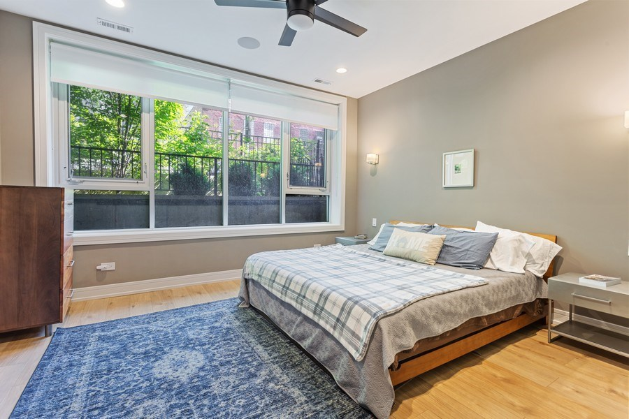 Real Estate Photography - 2435 W Homer, Unit 1E, Chicago, IL, 60647 - Master Bedroom